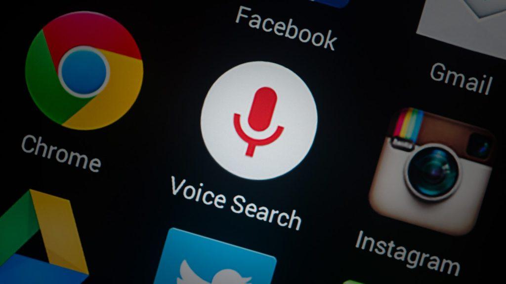 Aplicaciones para búsqueda por voz