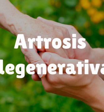 ¿Qué es la artrosis degenerativa?