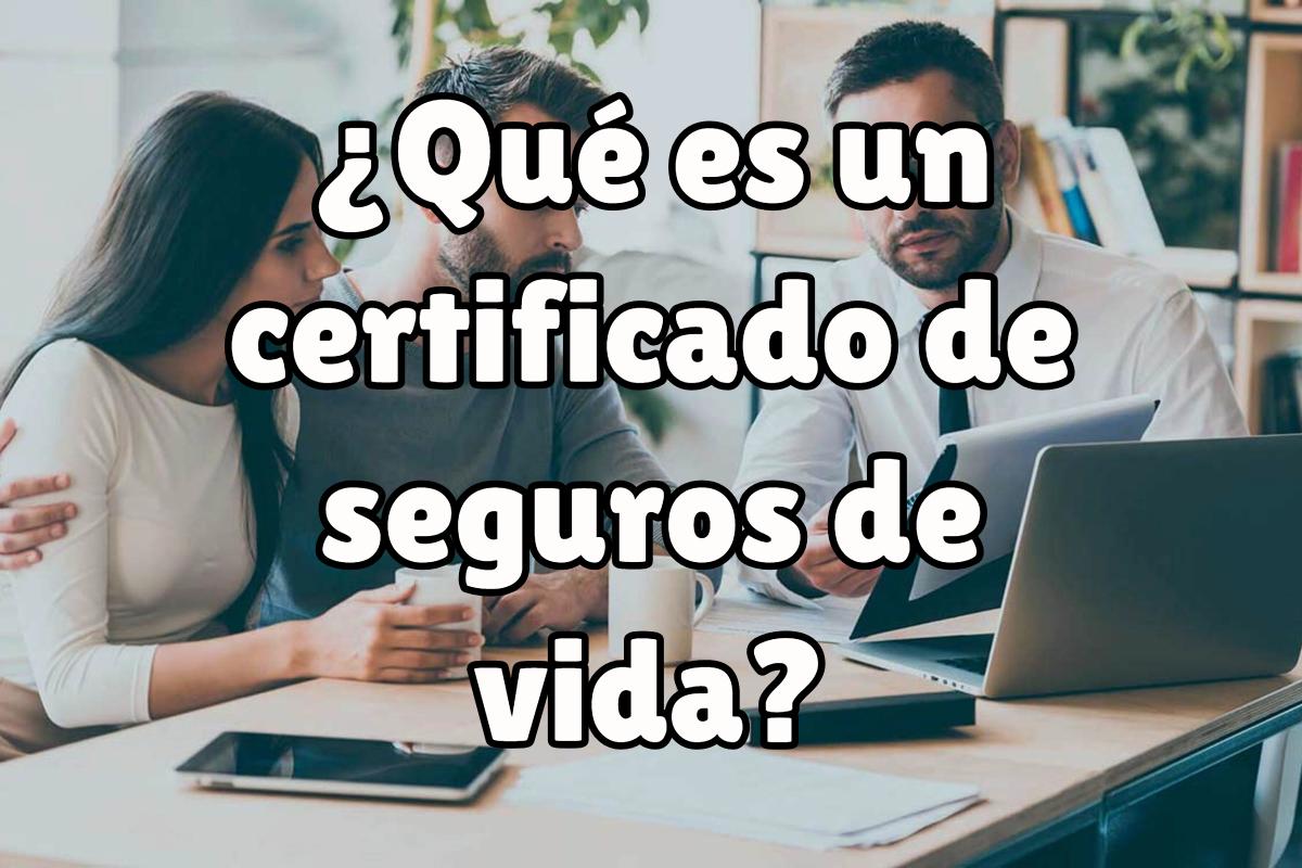 certificado de seguros de vida